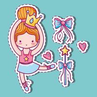 ragazza pratica balletto a elegante preformatore