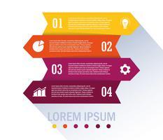 Flusso di lavoro isolato e progettazione infografica