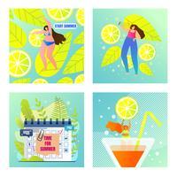Set di vacanze estive