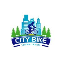 Icona di simbolo di City Bike Logo Banner Sign