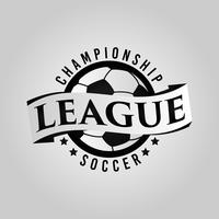 Logo di calcio con banner vettore