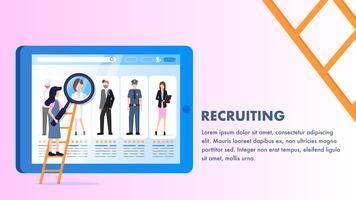 Schermo del computer portatile di profilo degli impiegati di varia occupazione