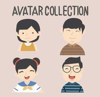 avatar diverse persone impostate vettore