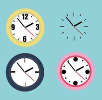 Collezione di orologi vettore