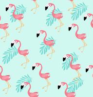 Modello sveglio di vettore dell'uccello del fenicottero rosa
