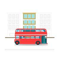 Bus di trasporto rosso a due piani