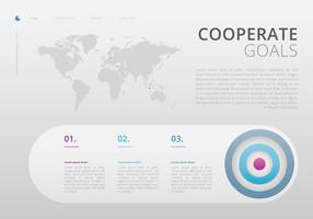Infografica sugli obiettivi aziendali. Lavoro di squadra infografica.