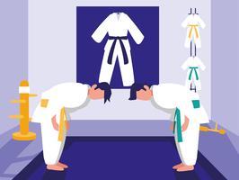 scena dojo di arti marziali
