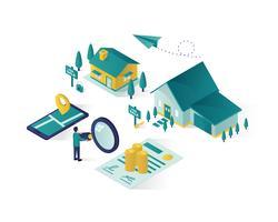 grafica vettoriale illustrazione isometrica immobiliare