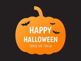 Zucca di Halloween felice vettore