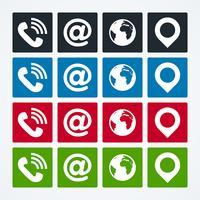 Set di icone di contatto vettore