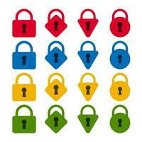 Set di icone di blocco vettore