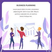 Insegna della compressa di analisi di pianificazione aziendale
