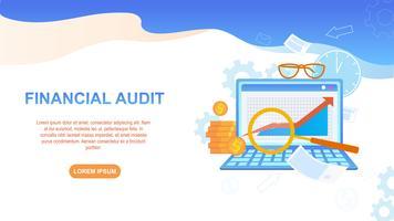 Illustrazione di audit finanziario vettore