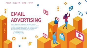 Banner Email Pubblicità piatta