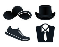 Set di icone di vestiti
