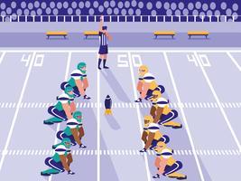 partita di football americano vettore