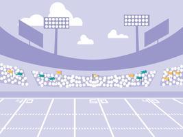 scena dello stadio di football americano vettore
