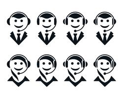 Icone dell'operatore di call center vettore