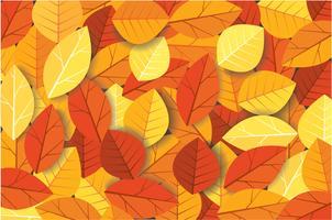 Illustrazione di vettore del fondo delle foglie di autunno