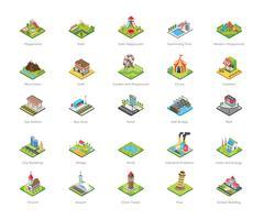 Parco giochi e altre icone di punti di riferimento