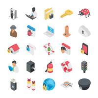 Pack di icone di sicurezza e protezione vettore