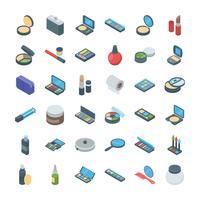 Set di icone di prodotti di bellezza vettore