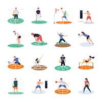 Gruppo di icone del giocatore di sport