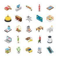 Pack di icone isometriche dell'hotel