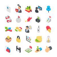 Collezione di icone di affari vettore