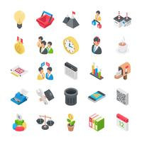 Icone di ufficio e organizzazione vettore