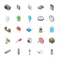 Confezione di icone di intrattenimento e altri oggetti