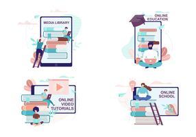 Insieme della pubblicità di istruzione e addestramento a distanza
