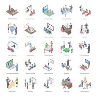 Pack di icone di Business Coaching vettore