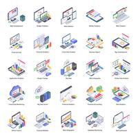 Set di icone di analisi dei dati