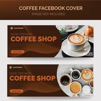 Banner della caffetteria vettore