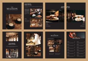 Vettore culinario del modello della rivista dell'opuscolo