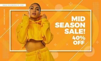 Design di vendita di moda banner stile Memphis