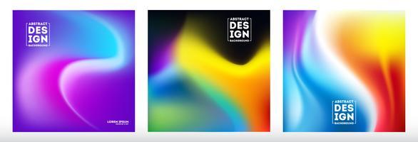 Set di sfondo sfocato astratta maglia gradiente
