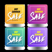 pacchetto banner vendita calda estate vettore