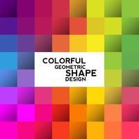 Forme geometriche colorate vettore