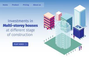 Illustrazione Investimenti in multipiano vettore