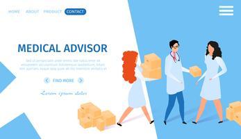 Banner orizzontale di consulente medico