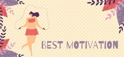 Miglior modello di banner di motivazione nel design a base di erbe vettore