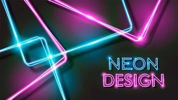 Disegno di sfondo nero al neon vettore