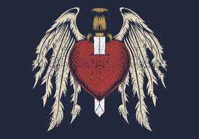 cuore spezzato con le ali