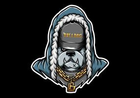 rapper bulldog che indossa una catena d'oro