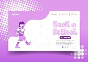 Web design e pagina di destinazione di Back to School
