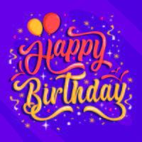 Sfondo di compleanno di lettere