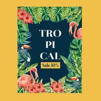Design estivo di poster tropicale